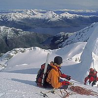 Climbers attempt the first ascent of a mountain in Chile's previously unexplored Cordillera Sarmiento, a weather-beaten range in Patagonia.
