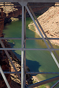 Detail of Navajo Bridge structure over Colorado River near Lee's Ferry, Arizona, Marble Canyon, Grand Canyon National Park