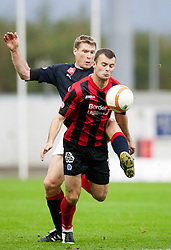 Falkirk's Darren Dods and Kevin Smith..Falkirk 1 v 0 Queen of the South, 15/10/2011..Pic © Michael Schofield.