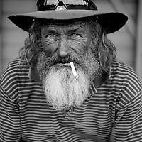 Bush labourer, Jim Callaghan, at Einasleigh, outback Queensland, Australia.