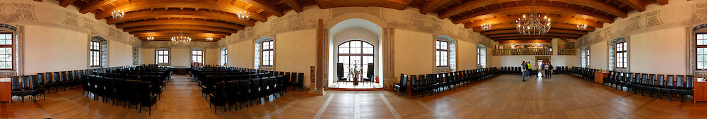 A Panorama of the second floor of the wedding palace on the grounds of Bytca Castle in Bytca, Slovakia on Sunday July 3rd 2011. (Photo by Brian Garfinkel)