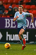 Accrington Stanley midfielder Sean McConville (11) on the ball during the EFL Sky Bet League 1 match between Charlton Athletic and Accrington Stanley at The Valley, London, England on 19 January 2019.