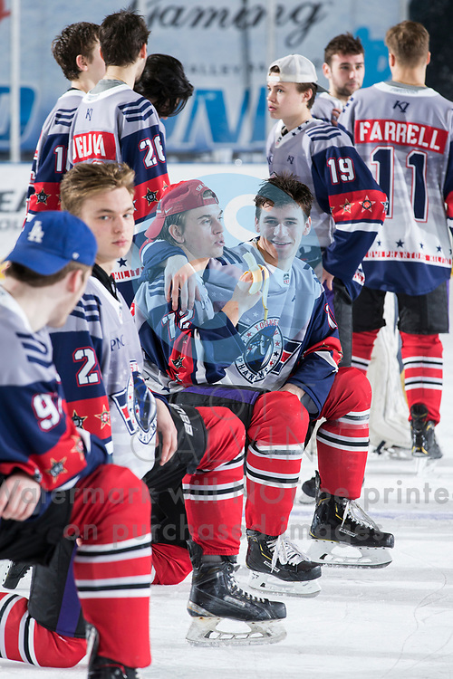 The Youngstown Phantoms lose 4-3 to Team USA NTDP at the Covelli Centre on February 16, 2019. Featuring special jerseys for Military Appreciation Night.<br /> <br /> Liam Dennison, defenseman, 72; Jack Malone, forward, 18