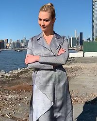 """Karlie Kloss releases a photo on Instagram with the following caption: """"Our Monday\u2019s are more 5-9"""". Photo Credit: Instagram *** No USA Distribution *** For Editorial Use Only *** Not to be Published in Books or Photo Books ***  Please note: Fees charged by the agency are for the agency's services only, and do not, nor are they intended to, convey to the user any ownership of Copyright or License in the material. The agency does not claim any ownership including but not limited to Copyright or License in the attached material. By publishing this material you expressly agree to indemnify and to hold the agency and its directors, shareholders and employees harmless from any loss, claims, damages, demands, expenses (including legal fees), or any causes of action or allegation against the agency arising out of or connected in any way with publication of the material."""