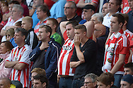 worried Southampton fans look on during the second half. Barclays Premier League, Watford v Southampton at Vicarage Road in London on Sunday 23rd August 2015.<br /> pic by John Patrick Fletcher, Andrew Orchard sports photography.