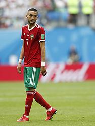 (l-r) Hakim Ziyach of Morocco