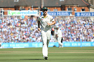 Mitchell Marsh of Australia makes chase to the boundary during the 3rd day of the Investec Ashes Test match between England and Australia at the Oval, London, United Kingdom on 22 August 2015. Photo by Phil Duncan.