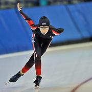 September 18, 2010 - Kearns, Utah - Ally Di Nardo races in long track speedskating time-trials held at the Utah Olympic Oval.