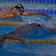 Michael Phelps, USA, beaten into silver by Paul Biedermann, Germany, in the Men's 200m Freestyle Final at the World Swimming Championships in Rome on Tuesday, July 28, 2009. Photo Tim Clayton.