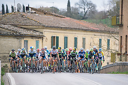 Over the bridge, Ponte D'Arbia - 2016 Strade Bianche - Elite Women, a 121km road race from Siena to Piazza del Campo on March 5, 2016 in Tuscany, Italy.