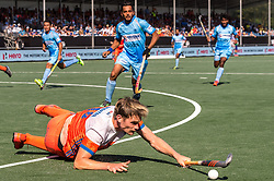 Mirco Pruyser of The Netherlands during the Champions Trophy match between the Netherlands and India on the fields of BH&BC Breda on June 30, 2018 in Breda, the Netherlands
