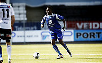 Fotball , 9. juli 2012 , Tippeligaen , Eliteserien<br /> Odd - Haugesund 2-1<br /> Umaru Bangura , Haugesund