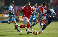 Photo: Tony Oudot.<br />Charlton Athletic v Wigan Athletic. The Barclays Premiership. 31/03/2007.<br />Jerome Thomas of Charlton goes through the Wigan defence