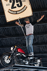Wall of death rider Rhett Rotten at Destination Daytona Harley-Davidson during Daytona Beach Bike Week, FL. USA. Wednesday, March 13, 2019. Photography ©2019 Michael Lichter.