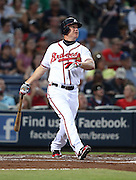 ATLANTA, GA - SEPTEMBER 02:  Third baseman Chipper Jones #10 of the Atlanta Braves follows through on a swing during the game against the Los Angeles Dodgers at Turner Field on September 2, 2011 in Atlanta, Georgia.  (Photo by Mike Zarrilli/Getty Images)
