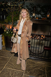 Basia Briggs at The Ivy Chelsea Garden's Guy Fawkes Party, 197 King's Road, London, England. 05 November 2017.