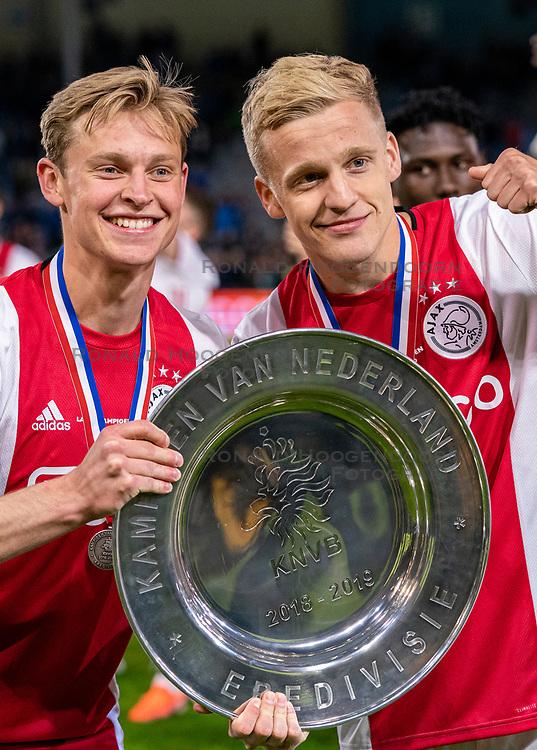 15-05-2019 NED: De Graafschap - Ajax, Doetinchem<br /> Round 34 / It wasn't really exciting anymore, but after the match against De Graafschap (1-4) it is official: Ajax is champion of the Netherlands / Frenkie de Jong #21 of Ajax, Donny van de Beek #6 of Ajax