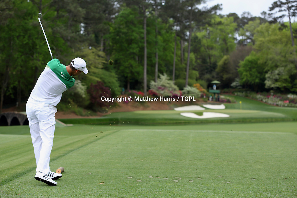 Martin KAYMER (GER) at 12th tee during fourth round,US Masters 2013,Augusta National,Augusta,Georgia,USA.
