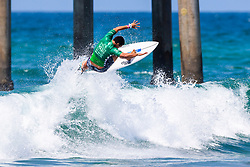 Mihimana Braye (PYF) advances to Round 3 of the 2018 VANS US Open of Surfing after winning Heat 16 of Round 2 at Huntington Beach, California, USA.