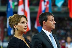HRH Princess Haya bint Al Hussein and Valls Manuel Carlos  - Prime Minister of France, Opening Ceremony, <br /> Alltech FEI World Equestrian Games™ 2014 - Normandy, France.<br /> © Hippo Foto Team - Leanjo de Koster<br /> 25/06/14