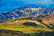 The Alpine region at Sunshine Meadows. Canadian Rocky Mountains.  <br /> British Columbia<br /> Canada<br />Adjacent Banff National Park<br />British Columbia<br />Canada