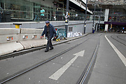 The Ramp in central Birmingham, United Kingdom. This sloping street leading to New Street Station is known by locals simply as The Ramp.