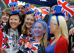 © under license to London News Pictures. LONDON, UK  29/04/2011. The Royal Wedding of HRH Prince William to Kate Middleton.  Royal fans in Hyde Park. Photo credit should read Stephen Simpson/LNP. Please see special instructions.