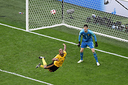 July 14, 2018 - Saint Petersbourg, Russie - SAINT PETERSBURG, RUSSIA - JULY 14 : Vincent Kompany defender of Belgium & Thibaut Courtois goalkeeper of Belgium during the FIFA 2018 World Cup Russia Play-off for third place match between Belgium and England at the Saint Petersburg Stadium on July 14, 2018 in Saint Petersburg, Russia, 14/07/18 (Credit Image: © Panoramic via ZUMA Press)