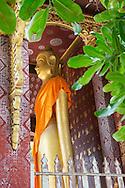A Buddha statue at Wat Sene (Sene Temple) in Luang Prabang, Laos.