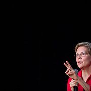 COLUMBIA, SC - OCTOBER 27:  Senator Elizabeth Warren, a Democrat from Massachusetts and 2020 presidential candidate, speaks during the 2019 Second Step Presidential Justice Forum in Columbia, South Carolina, U.S., on Sunday, Oct. 27, 2019. The forum asked each participant to focus on what's next now that the First Step Act has been passed. Photographer: Logan Cyrus/Bloomberg