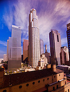 A cityscape of downtown Los Angeles, California