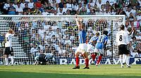 Photo: Steve Bond. <br />Derby County v Portsmouth. Barclays Premiership. 11/08/2007. Portsmouth celebrate John Utaka's goal in the 83rd minute