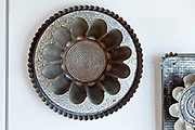 various old style metal tart and pie baking pans