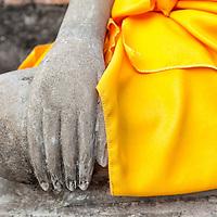 Buddha statue near Wat Yai Chai Mongkol in Ayutthaya.