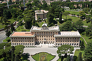 Italy, Rome, Vatican, The Pope's quarters as seen from the roof of St Peter's Basilica
