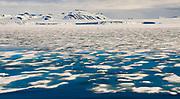 Melting sea ice in Artic. From Hornsund, western Spitsbergen, Svalbard, Norway in June 2008.
