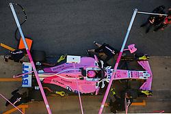 March 7, 2018 - Barcelona, Spain - the Force India of Esteban Ocon during the Formula 1 tests at the Barcelona-Catalunya Circuit, on 07th March 2018 in Barcelona, Spain.  Photo: Joan Valls/Urbanandsport /NurPhoto. (Credit Image: © Joan Valls/NurPhoto via ZUMA Press)