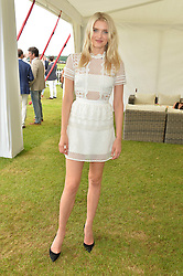 LILY DONALDSON at the Cartier Queen's Cup Final 2016 held at Guards Polo Club, Smiths Lawn, Windsor Great Park, Egham, Surrey on 11th June 2016.