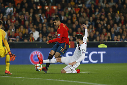 March 23, 2019 - Valencia, Community of Valencia, Spain - Spain's Alvaro Morata seen in action during the Qualifiers - Group B to Euro 2020 football match between Spain and Norway in Valencia, Spain. Spain beat Norway, 2-1 (Credit Image: © Manu Reino/SOPA Images via ZUMA Wire)