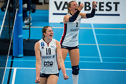 29-09-2018 NED: Supercup Sliedrecht Sport - Eurosped, Sliedrecht<br /> Sliedrecht takes the first price of the new season / Carlijn Ghijssen-Jans #10 of Sliedrecht Sport