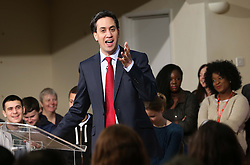 Labour leader Ed Miliband gives a speech on cultural diversity and integration in Britain in Tooting, South London, Friday, December 14th 2012.  Photo by: Stephen Lock / i-Images
