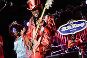 Photos of funk bassist Bootsy Collins performing for the Blue Note Jazz Festival at B.B. Kings Blues Club & Grill, NYC. June 13, 2012. Copyright © 2012 Matthew Eisman. All Rights Reserved.