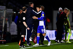 Tom Nichols of Bristol Rovers and Bristol Rovers manager Graham Coughlan  - Mandatory by-line: Ryan Hiscott/JMP - 22/10/2019 - FOOTBALL - Memorial Stadium - Bristol, England - Bristol Rovers v Bolton Wanderers - Sky Bet League One