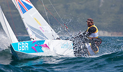 03.08.2012, Bucht von Weymouth, GBR, Olympia 2012, Segeln, im Bild Percy Iain, Simpson Andrew, (GBR, Star) // during Sailing, at the 2012 Summer Olympics at Bay of Weymouth, United Kingdom on 2012/08/03. EXPA Pictures © 2012, PhotoCredit: EXPA/ Daniel Forster ***** ATTENTION for AUT, CRO, GER, FIN, NOR, NED, POL, SLO and SWE ONLY!