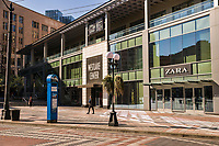 Westlake Center is one of Downtown Seattle's very popular shopping malls. As you can imagine, it never looks like this on a warm and sunny Saturday afternoon. (March 21, 2020).