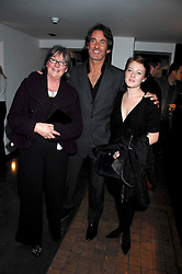 Left to right, MRS HILARY JEFFERIES, MR TIM JEFFERIES and his niece MILLY McILVENNY at a private view of Octagan a showcase of work of photographer Kevin Lynch featuring the stars of the Ultimate Fighter Championship held at Hamiltons gallery, Mayfair, London on 17th January 2008.<br /><br />NON EXCLUSIVE - WORLD RIGHTS