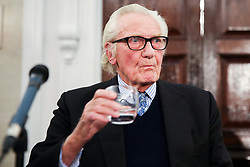 © Licensed to London News Pictures. 27/11/2019. London, UK. Former Conservative Deputy Prime Minister, LORD MICHAEL HESELTINE speaks to the party activist and members of the media in De Here Grand Connaught Rooms, Holborn about Brexit and the upcoming General Election. LORD MICHAEL HESELTINE supports Liberal Democrat candidates, SAM GYIMAH and CHUKA UMUNNA who are standing against the Tories on anti-Brexit manifestos. Britons go to the polls on 12 December in a General Election. Photo credit: Dinendra Haria/LNP