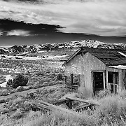 Abandoned Homestead - Chemung Mine - HDR - Infrared Black & White