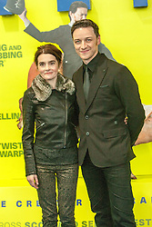 James McAvoy with Shirley Henderson.<br /> Edinburgh hosts the World Premiere of Filth at the Omni cinema.<br /> ©Michael Schofield.