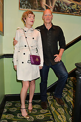 CAMILLA RUTHERFORD and DOMINIC BURNS at a Bastille Day Cocktail Party at L'Escargot, 48 Greek Street, London on 14th July 2014.